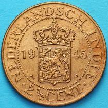 Нидерландская Индия 2 1/2 цента 1945 год. Р.