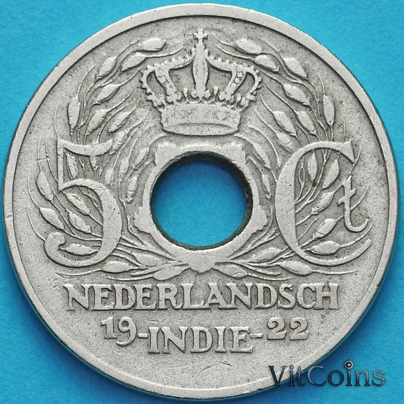 Монета Нидерландская Индия 5 центов 1922 год.