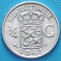 Нидерландская Восточная Индия 1/4 гульдена 1941 год. Р. Серебро.