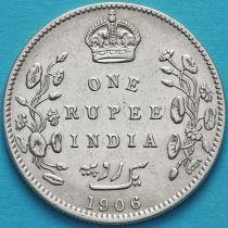 Британская Индия 1 рупия 1906 год. Бомбей. Серебро. №2
