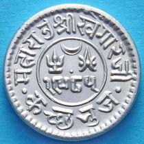 Индия, княжество Кач, 1 кори 1929 год. VS1985. Серебро.