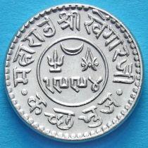 Индия, княжество Кач, 1 кори 1937 год. VS1994. Серебро.