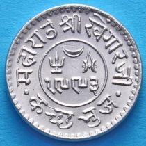 Индия, княжество Кач, 1 кори 1937 год. VS1993. Серебро.
