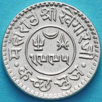 Индия, княжество Кач, 1 кори 1938 год. VS1995. Серебро.