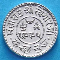 Индия, княжество Кач, 1 кори 1939 год. VS1995. Серебро.