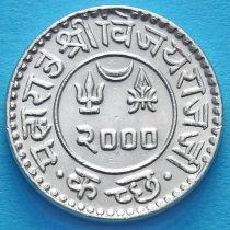 Индия, княжество Кач, 1 кори 1943 год. VS2000. Серебро.