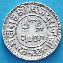Индия, княжество Кач, 1 кори 1944 год. VS2000. Серебро.