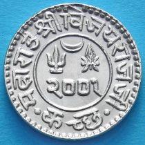 Индия, княжество Кач, 1 кори 1944 год. VS2001. Серебро.
