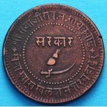 Индия 2 пайса 1892, VS 1949/4 год, княжество Барода.