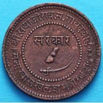 Индия 2 пайса 1892, VS 1949 год, княжество Барода.