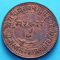 Индия 2 пайса 1944 год, VS1887, княжество Барода.