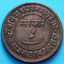 Индия 1 пайс 1946/5 год, VS1889, княжество Барода.