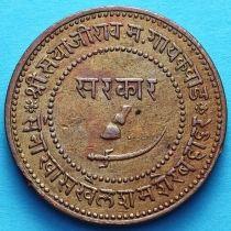 Индия 2 пайса 1946/4 год, VS1889, княжество Барода.