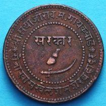 Индия 2 пайса 1947 год, VS1890, княжество Барода.