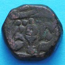 Индия 1 пайс 1830 год, АН1211, AD1796, княжество Датиа №2
