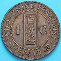 Индокитай Французский 1 сантим 1888 год. А.
