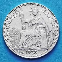 Французский Индокитай 10 сантим 1923 год. Серебро.