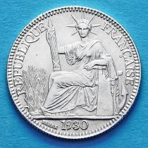 Французский Индокитай 10 сантим 1930 год. Серебро.