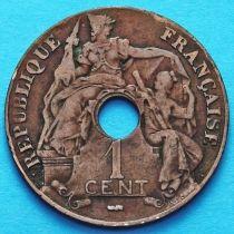 Французский Индокитай 1 сантим 1922 год. Пуасси.
