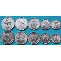 Индонезия набор 5 монет 1996-2003 год.