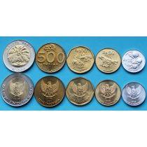 Индонезия набор 5 монет 1994-1998 год.
