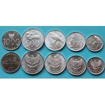 Индонезия набор 5 монет 1999 - 2010 год.