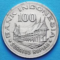 Индонезия 100 рупий 1978 год. Лесное хозяйство.