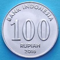Индонезия 100 рупий 2016 год.