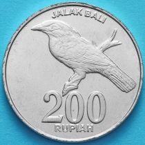 Индонезия 200 рупий 2003 год. Балийский скворец