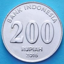 Индонезия 200 рупий 2016 год.