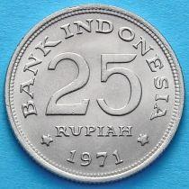 Индонезия 25 рупий 1971 год. Венценосный голубь.