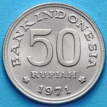 Индонезия 50 рупий 1971 год. Райская птица.
