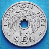 Индонезия 5 сен 1951 год.