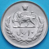 Иран 10 риалов 1974 год. Мохаммед Реза Пехлеви.