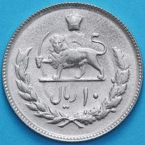 Иран 10 риалов 1977 год. Мохаммед Реза Пехлеви.