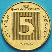 Израиль 5 агорот 1987 год. Ханука.