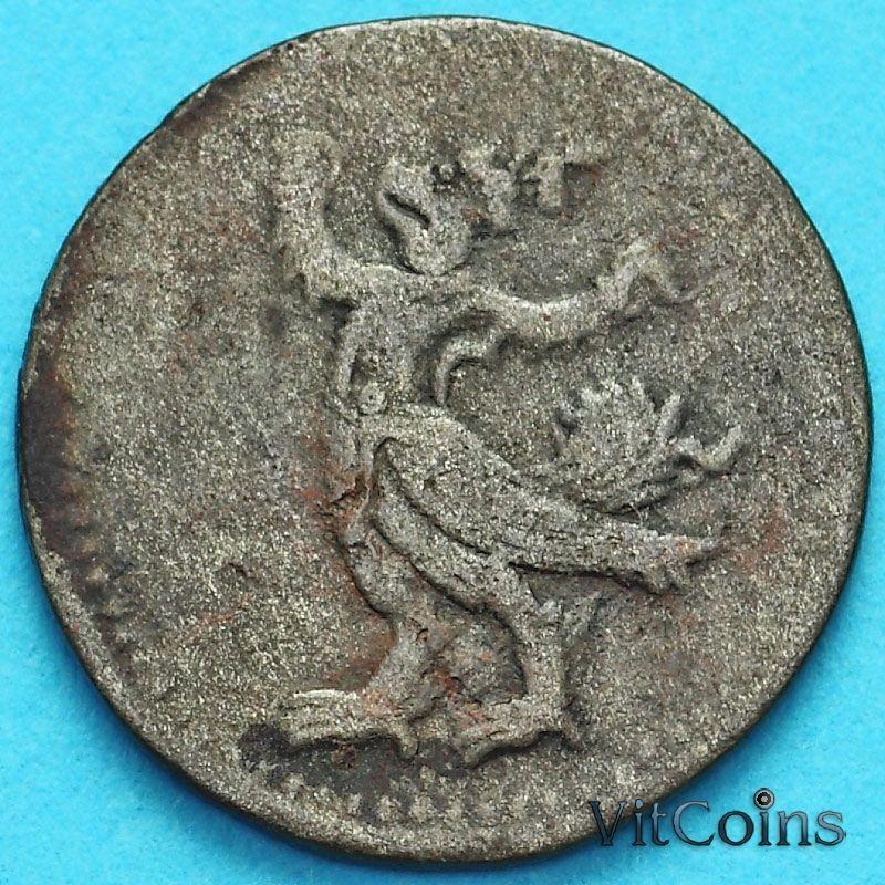 Монета Камбоджа 2 пе (1/2 фаунга) 1880 год. №3
