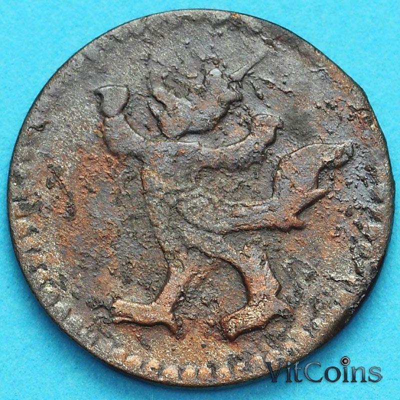 Монета Камбоджа 2 пе (1/2 фаунга) 1880 год. №2