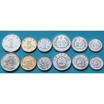 Китай набор 6 монет 1987-2013 год.