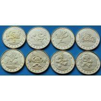 Китай набор 8 монет 2008 год. Олимпиада в Пекине.