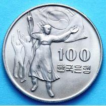 Южная Корея 100 вон 1975 год.
