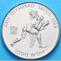 Южная Корея 2000 вон 1987 год. Борьба.