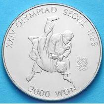Южная Корея 2000 вон 1987 год. Дзюдо