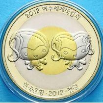 Южная Корея 1000 вон 2012 год. Экспо-2012
