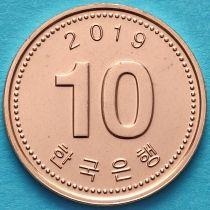 Южная Корея 10 вон 2019 год