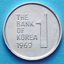 Южная Корея 1 вон 1969 год.