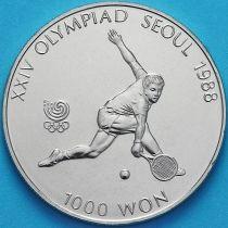 Южная Корея 1000 вон 1987 год. Теннис.