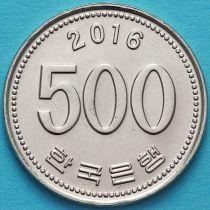 Южная Корея 500 вон 2016 год.