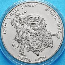 Южная Корея 1000 вон 1986 год. X летние Азиатские Игры.