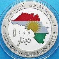 Курдистан 5000 динар 2014 год.